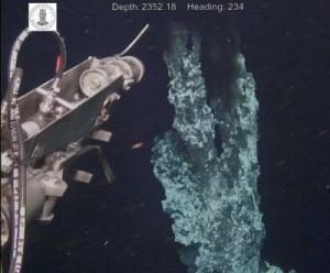 Chimenea hidrotermal del Castillo de Loki.  [Foto: Centro de Geobiología, Universidad de Bergen]
